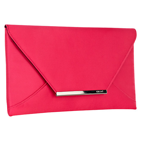 Buy Coast Envelope Clutch Bag, Fuchsia Online at johnlewis.com