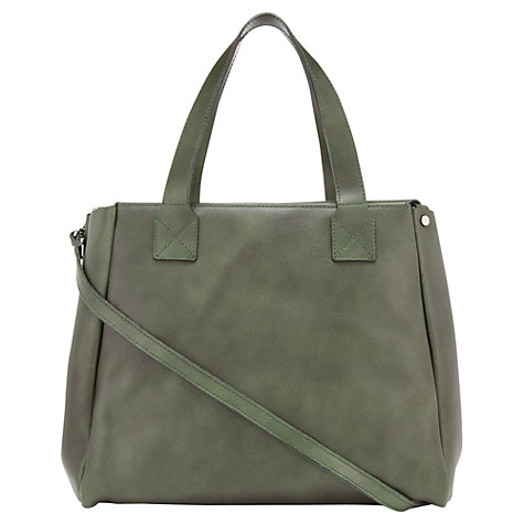 Buy Jigsaw Arbroath Leather Tote Multi Way Handbag, Moss Online at johnlewis.com