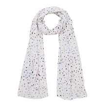 Buy John Lewis Swallow Print Scarf, White Online at johnlewis.com