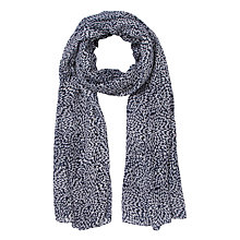 Buy John Lewis Ditsy Leaf Scarf, Navy Online at johnlewis.com
