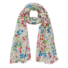 Buy John Lewis Blurred Floral Scarf, Multi Online at johnlewis.com