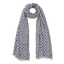 Buy John Lewis Multi Daisy Scarf, Navy Online at johnlewis.com