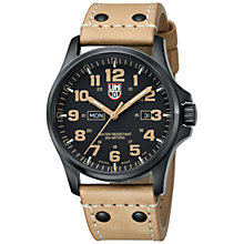 Buy Luminox 1925 Men's Atacama Field Day / Date Leather Strap Watch, Brown Online at johnlewis.com