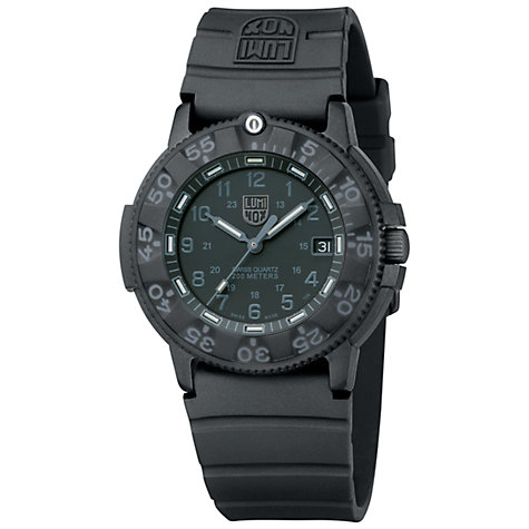 Buy Luminox A.3001 Men's Navy Seal Silicone Strap Watch Online at johnlewis.com