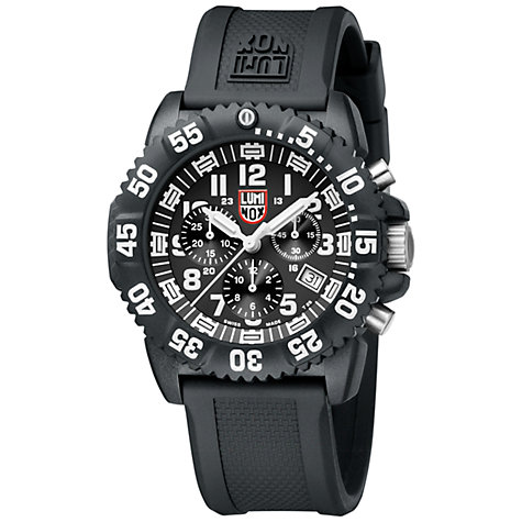 Buy Luminox Men's Colourmark Navy Seals Silicone Strap Chronograph Online at johnlewis.com