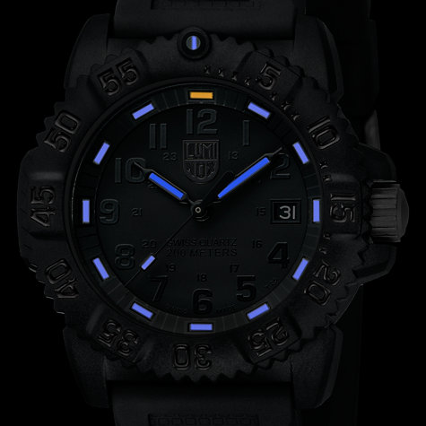 Buy Luminox A.7051.BO Unisex Colourmark Silicone Strap Watch, Blackout Online at johnlewis.com