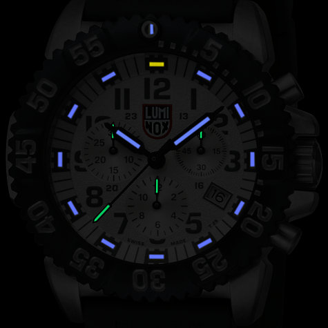 Buy Luminox Men's Colourmark Navy Seal Silicone Strap Chronograph Watch Online at johnlewis.com