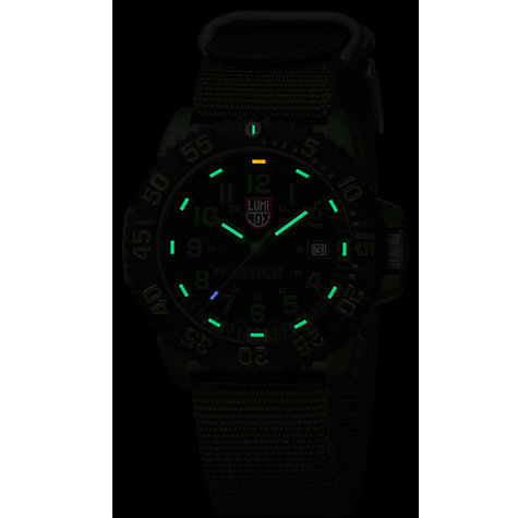 Buy Luminox A.3042 Men's Navy Seal NATO Strap Watch, Military Green Online at johnlewis.com