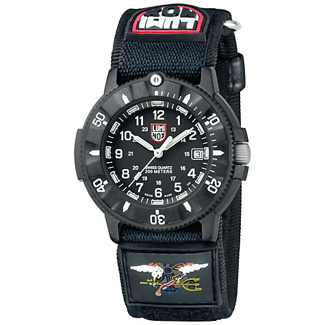 Buy Luminox A.3901 Men's Navy Seal Fast-Strap Watch, Black Online at johnlewis.com