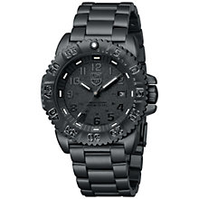 Buy Luminox 3152.BO Men's Navy Seal Stainless Steel Strap Watch, Blackout Online at johnlewis.com