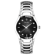Buy Bulova Women's Sunray Diamond Dial Watch Online at johnlewis.com