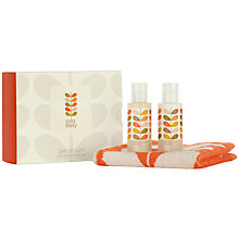 Buy Orla Kiely Geranium Shower & Face Cloth Gift Set, 250ml Online at johnlewis.com