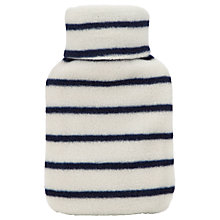 Buy Vagabond Navy Stripe Fleece Hot Water Bottle Online at johnlewis.com