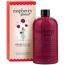 Buy Philosophy Raspberry Shampoo, Shower Gel & Bubble Bath, 480ml Online at johnlewis.com
