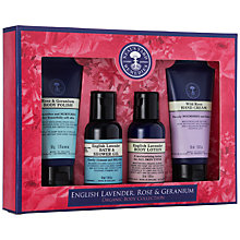 Buy Neal's Yard English Lavender, Rose & Geranium Organic Body Set, 4 x 50ml Online at johnlewis.com