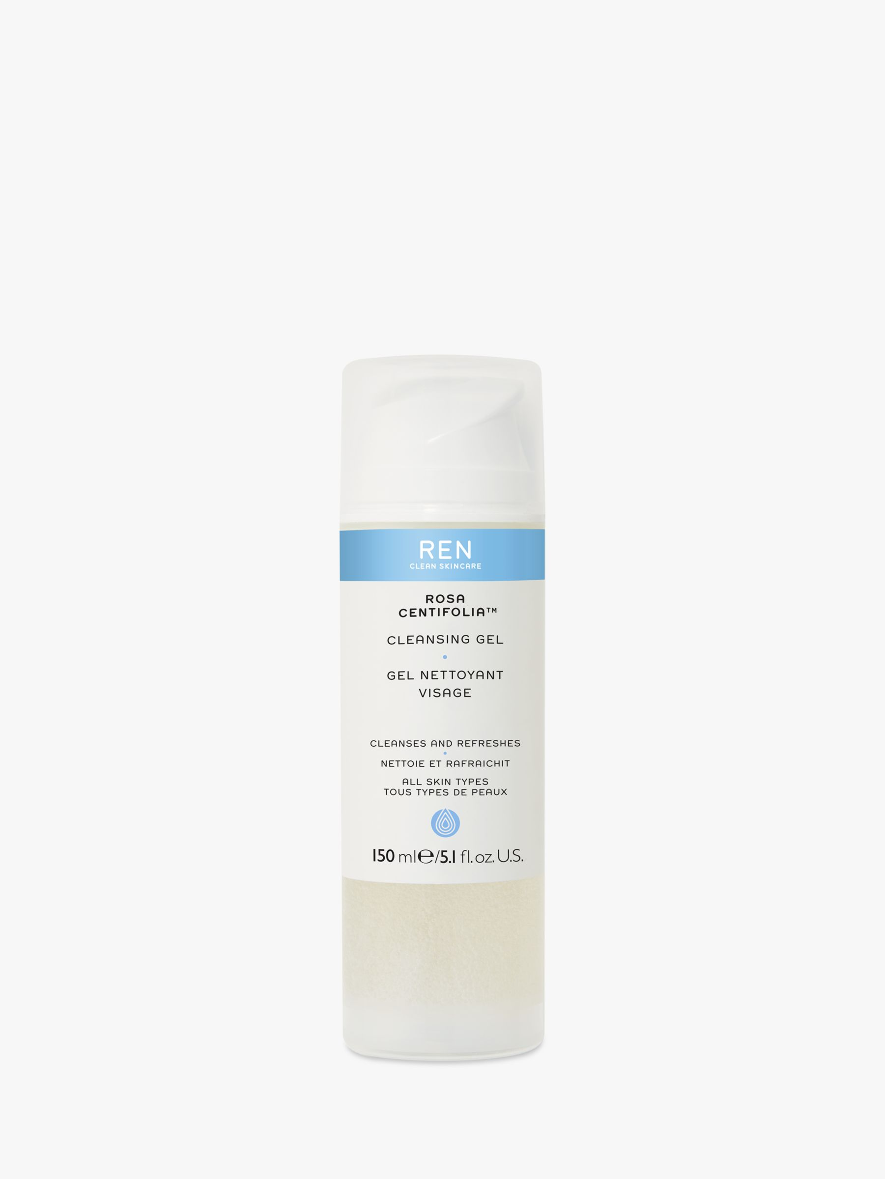 REN REN Rosa Centifolia™ Cleansing Gel, 150ml