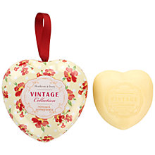 Buy Heathcote & Ivory Vintage Mimose & Pomegranate Milled Soap in Keepsake Heart Tin, 80g Online at johnlewis.com