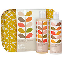 Buy Orla Kiely Geranium Wash Bag Gift Set, 250ml Online at johnlewis.com
