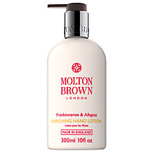 Buy Molton Brown Frankincense & Allspice Hand Lotion, 300ml Online at johnlewis.com