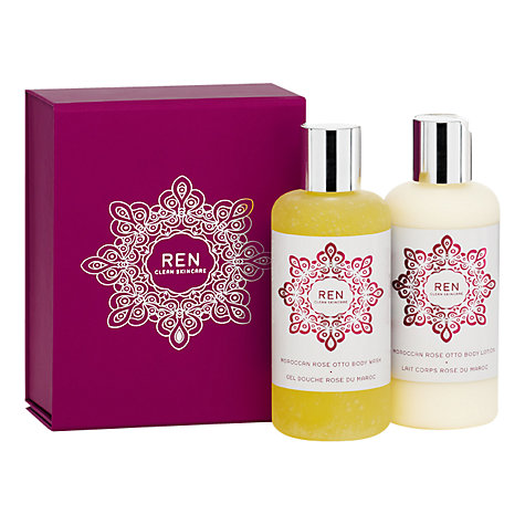 Buy REN Moroccan Rose Otto Gift Duo, 2 x 200ml Online at johnlewis.com