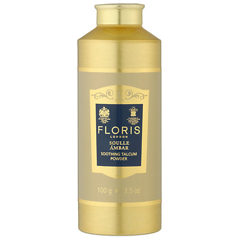 Buy Floris Soulle Ambar Soothing Aloe Vera Talcum Powder, 100g Online at johnlewis.com