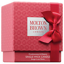 Buy Molton Brown Frankincense & Allspice Single Wick Candle, 180g Online at johnlewis.com