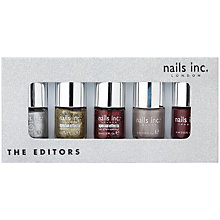 Buy Nails Inc. The Editors Collection Gift Set, 5 x 4ml Online at johnlewis.com