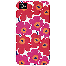 Buy Marimekko Unikko iPhone 4 Cover, Red Online at johnlewis.com