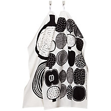 Buy Marimekko Kompotti Teatowel, Set of 2, Black Online at johnlewis.com