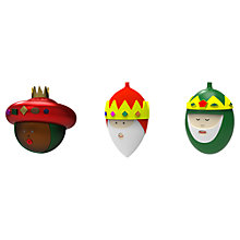 Buy Alessi Nativity Christmas Baubles, Set of 3 Online at johnlewis.com