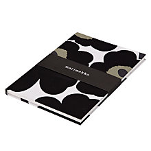 Buy Marimekko Unikko A4 Notebook, Black Online at johnlewis.com