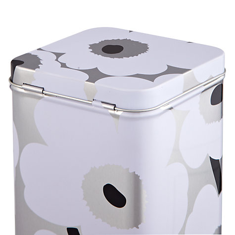 Buy Marimekko Unikko Storage Tin, White Online at johnlewis.com