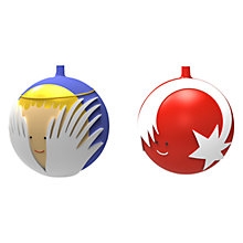 Buy Alessi Angioletto e Stella Cometa Christmas Baubles, Set of 2 Online at johnlewis.com