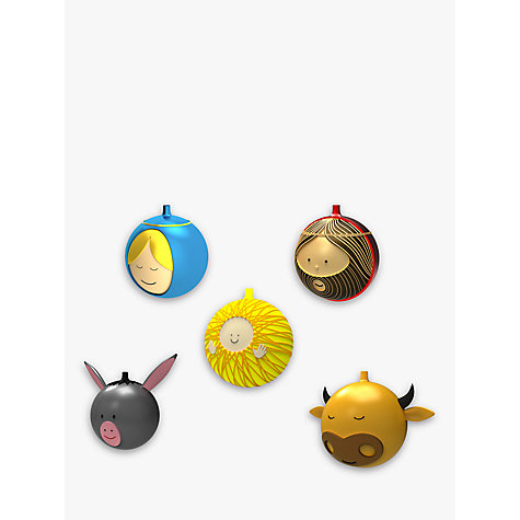 Buy Alessi Nativity Christmas Baubles, Set of 5 Online at johnlewis.com