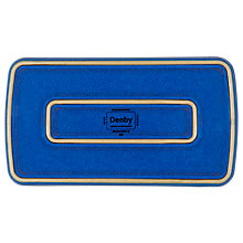 Buy Denby Imperial Blue Rectangular Plate Online at johnlewis.com