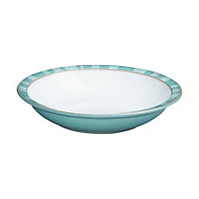 Buy Denby Azure Coast Shallow Rimmed Bowl, Blue, Dia.22cm Online at johnlewis.com