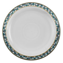 Buy Denby Azure Shell Medium Plate, Blue, Dia.23cm Online at johnlewis.com