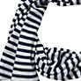 Buy Collection WEEKEND by John Lewis Stripe Jersey Scarf, Navy Online at johnlewis.com
