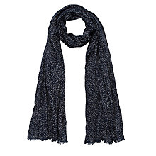 Buy John Lewis Mini Heart Ditsy Scarf, Navy Online at johnlewis.com