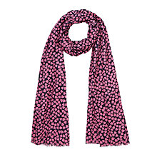 Buy John Lewis Heart Print Scarf, Pink Online at johnlewis.com
