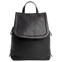 Buy Jigsaw Pepworth Rucksack, Black Online at johnlewis.com