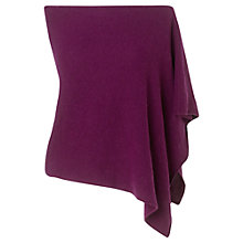 Buy Jigsaw Knitted Poncho, Wine Online at johnlewis.com