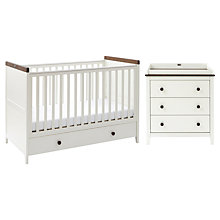 Buy Silver Cross Porterhouse Cotbed and Dresser Set, Ivory and Chocolate Online at johnlewis.com
