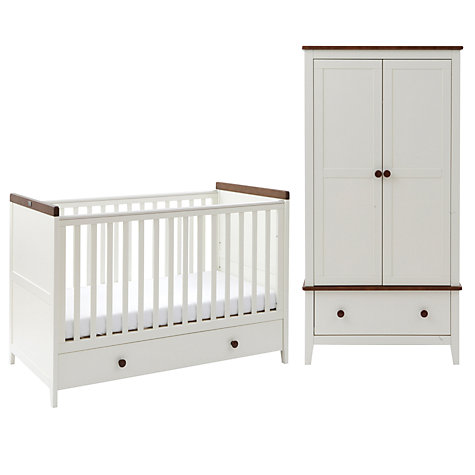 Buy Silver Cross Porterhouse Cotbed and Wardrobe Set, Ivory and Chocolate Online at johnlewis.com