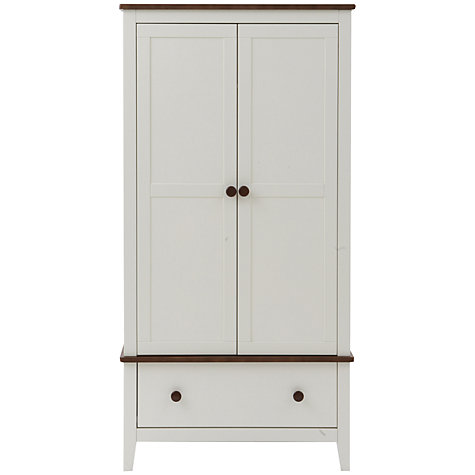 Buy Silver Cross Porterhouse Wardrobe, Ivory and Chocolate Online at johnlewis.com