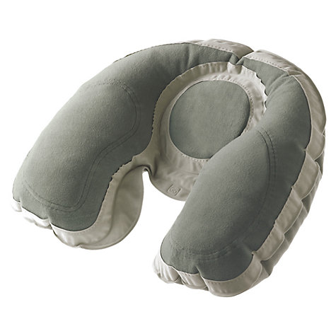 Buy Go Travel Super Snoozer Inflatable Travel Pillow, Grey Online at johnlewis.com