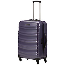 Buy John Lewis Verona 4-Wheel Medium Suitcase, Purple Online at johnlewis.com