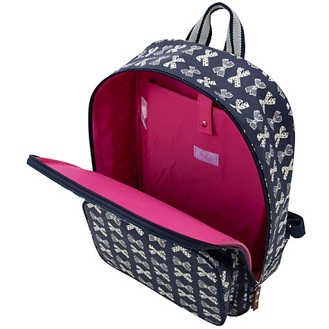 "Buy Pink Lining Bows Print 15"" Laptop Backpack Online at johnlewis.com"