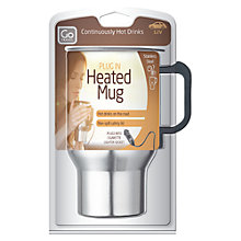 Buy Go Travel 12V In-Car Electic Mug, Silver Online at johnlewis.com