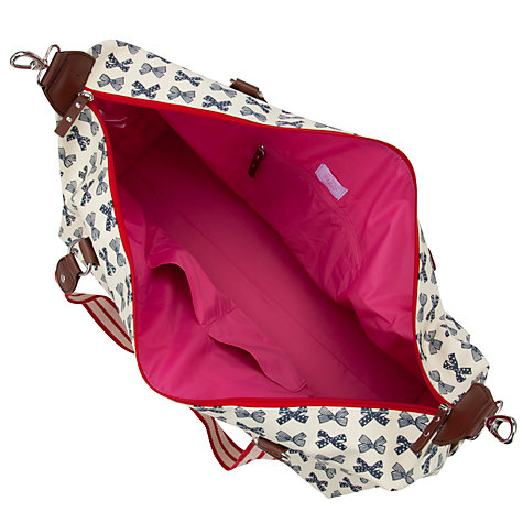 Buy Pink Lining Bows Print Canvas Holdall Online at johnlewis.com